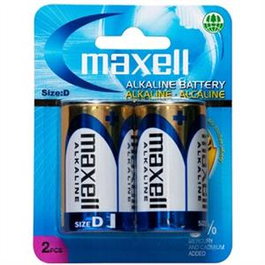 Maxell Alkaline D Pack of 2 Battery
